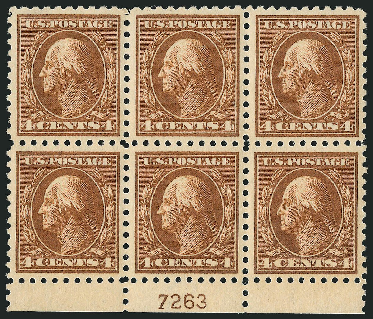 Price of US Stamps Scott # 427 - 4c 1914 Washington Perf 10. Robert Siegel Auction Galleries, Sep 2014, Sale 1078, Lot 523