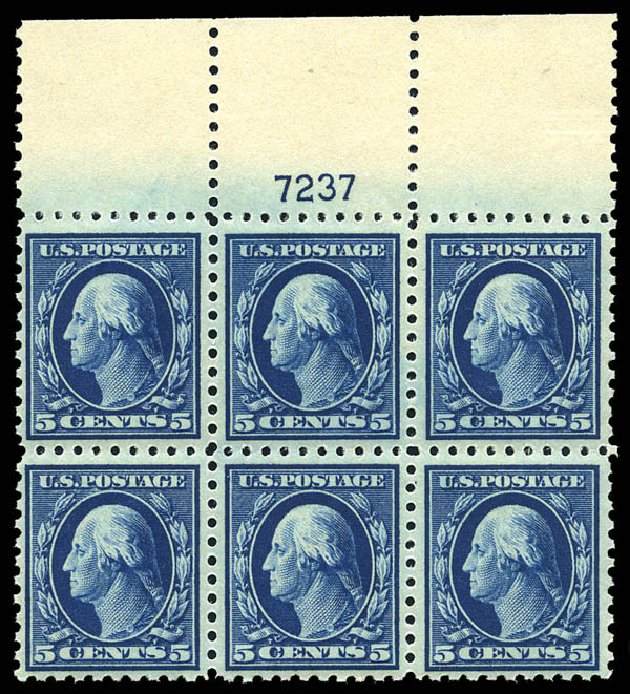 Costs of US Stamps Scott Catalogue #428 - 5c 1914 Washington Perf 10. Matthew Bennett International, May 2014, Sale 350, Lot 578