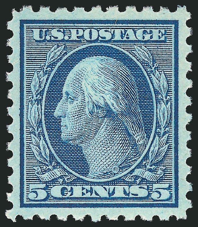 US Stamps Values Scott Catalogue # 428 - 1914 5c Washington Perf 10. Robert Siegel Auction Galleries, Feb 2015, Sale 1093, Lot 294