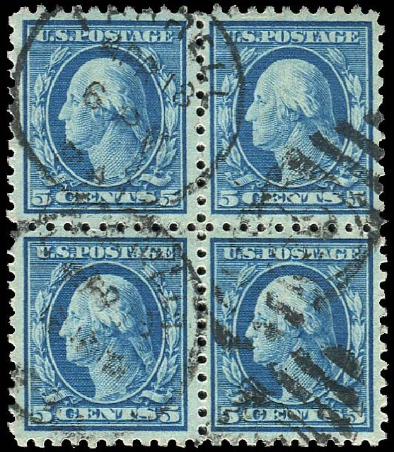 Values of US Stamps Scott Catalogue # 428 - 5c 1914 Washington Perf 10. Regency-Superior, Nov 2014, Sale 108, Lot 823