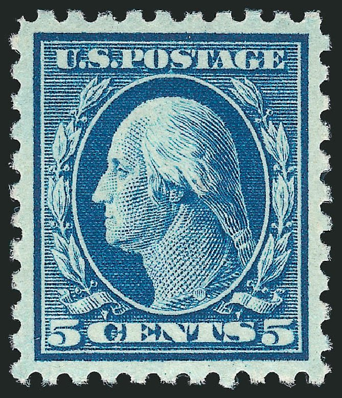 Value of US Stamp Scott 428: 5c 1914 Washington Perf 10. Robert Siegel Auction Galleries, Feb 2015, Sale 1093, Lot 293