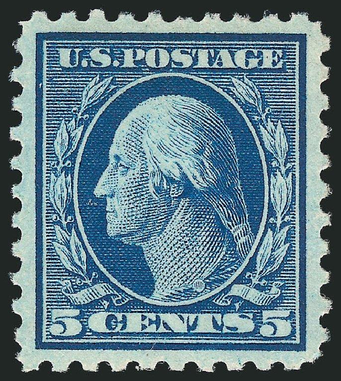 US Stamps Prices Scott Catalogue #428 - 5c 1914 Washington Perf 10. Robert Siegel Auction Galleries, Dec 2014, Sale 1090, Lot 1506