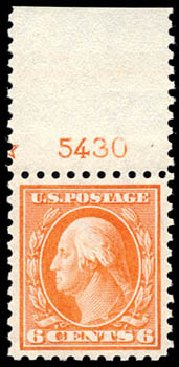 Values of US Stamp Scott Cat. # 429: 1914 6c Washington Perf 10. Schuyler J. Rumsey Philatelic Auctions, Apr 2015, Sale 60, Lot 2817