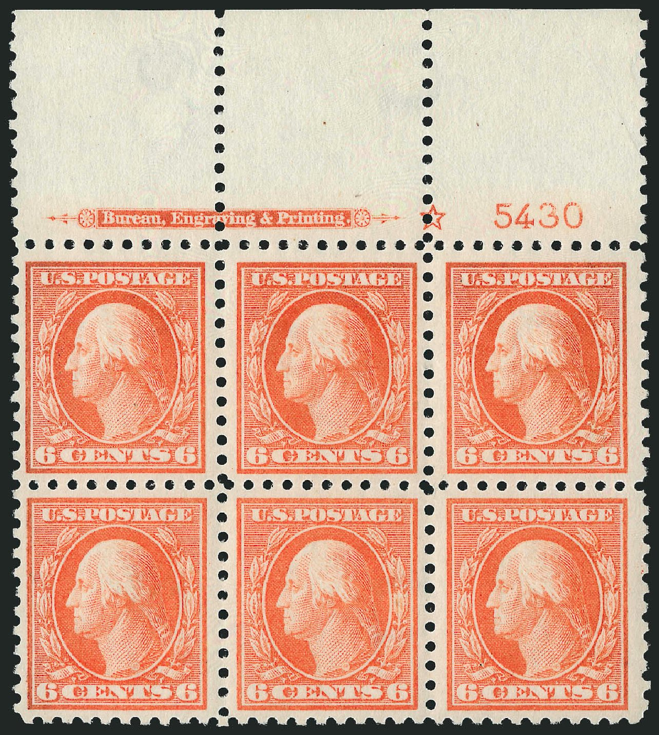 Price of US Stamp Scott Catalog # 429 - 1914 6c Washington Perf 10. Robert Siegel Auction Galleries, Feb 2015, Sale 1093, Lot 297