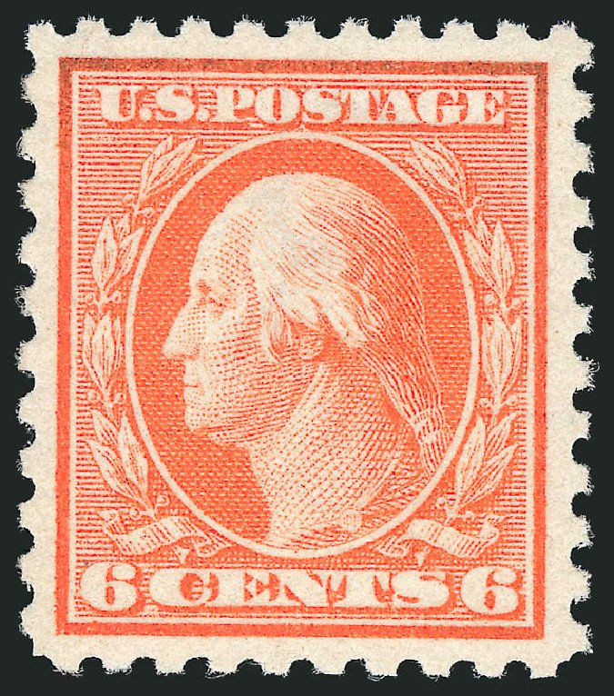 Costs of US Stamp Scott Catalogue # 429 - 1914 6c Washington Perf 10. Robert Siegel Auction Galleries, Dec 2014, Sale 1090, Lot 1508