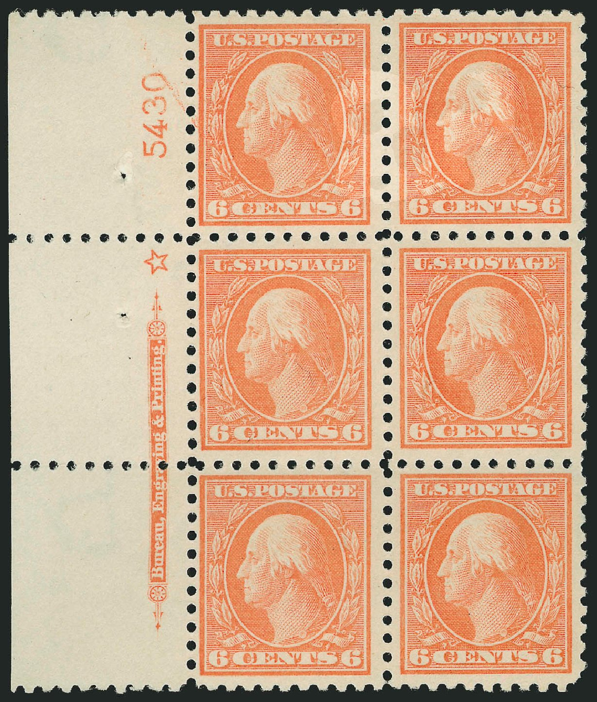 Costs of US Stamps Scott Catalog # 429: 6c 1914 Washington Perf 10. Robert Siegel Auction Galleries, Feb 2015, Sale 1093, Lot 298
