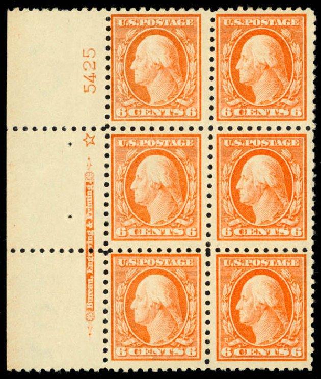 Price of US Stamp Scott Cat. #429 - 6c 1914 Washington Perf 10. Daniel Kelleher Auctions, Apr 2013, Sale 636, Lot 350