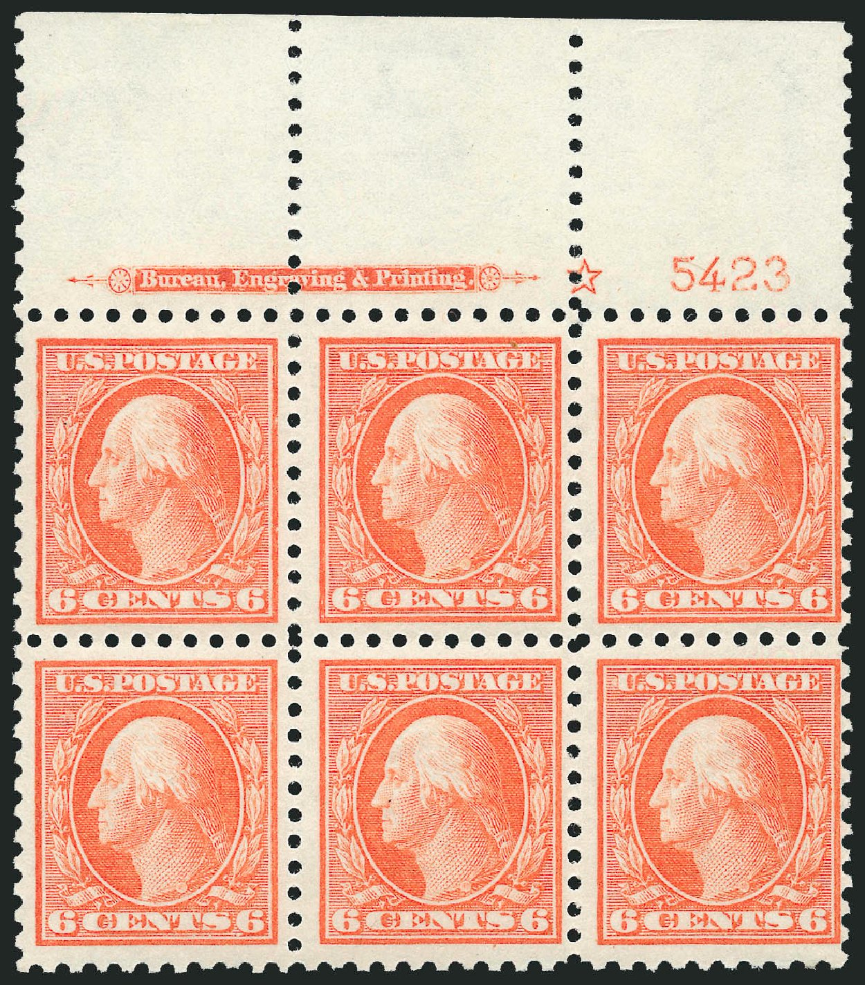 Values of US Stamp Scott Catalogue #429: 6c 1914 Washington Perf 10. Robert Siegel Auction Galleries, Mar 2014, Sale 1067, Lot 1520