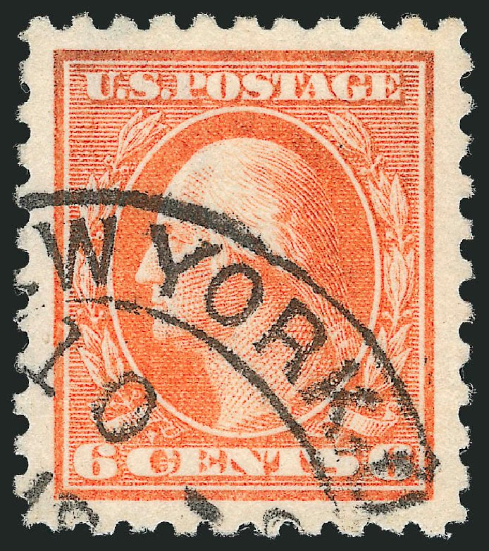 US Stamps Value Scott Catalog 429: 6c 1914 Washington Perf 10. Robert Siegel Auction Galleries, Oct 2012, Sale 1032, Lot 3531