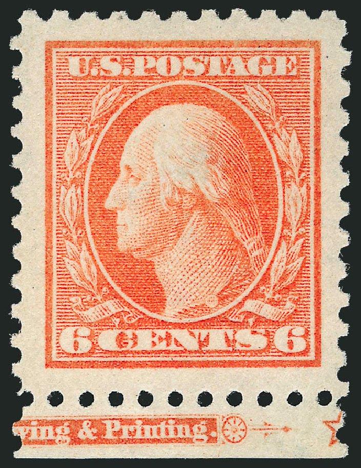 Price of US Stamp Scott Catalogue # 429: 1914 6c Washington Perf 10. Robert Siegel Auction Galleries, Jul 2013, Sale 1050, Lot 551