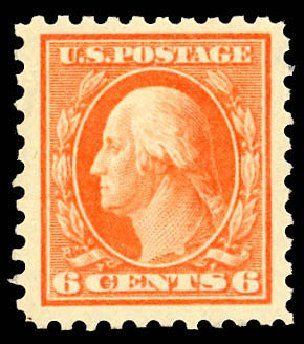 Value of US Stamps Scott Catalog 429: 1914 6c Washington Perf 10. Daniel Kelleher Auctions, Dec 2012, Sale 633, Lot 754