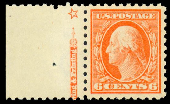 Cost of US Stamps Scott Catalogue # 429: 1914 6c Washington Perf 10. Daniel Kelleher Auctions, Sep 2013, Sale 639, Lot 3545