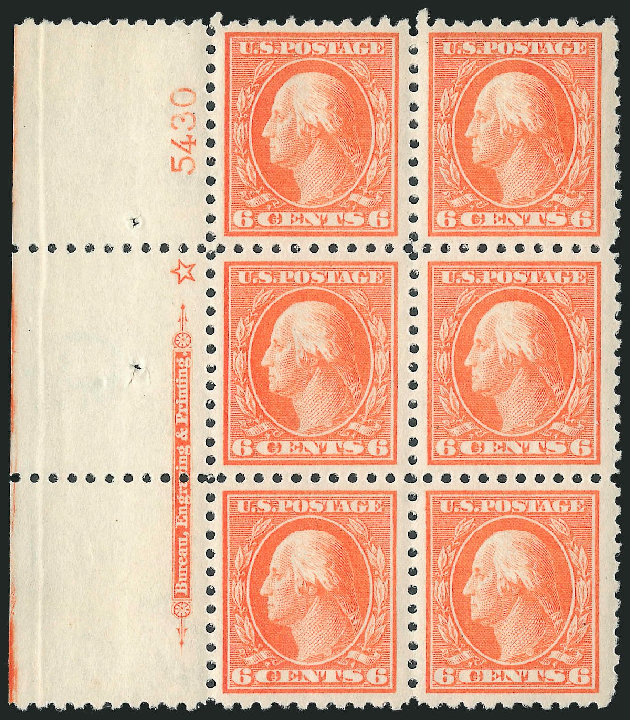 Value of US Stamps Scott Cat. #429: 1914 6c Washington Perf 10. Robert Siegel Auction Galleries, Mar 2013, Sale 1040, Lot 1805