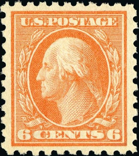 Prices of US Stamps Scott # 429 - 1914 6c Washington Perf 10. Spink Shreves Galleries, Jan 2015, Sale 150, Lot 173