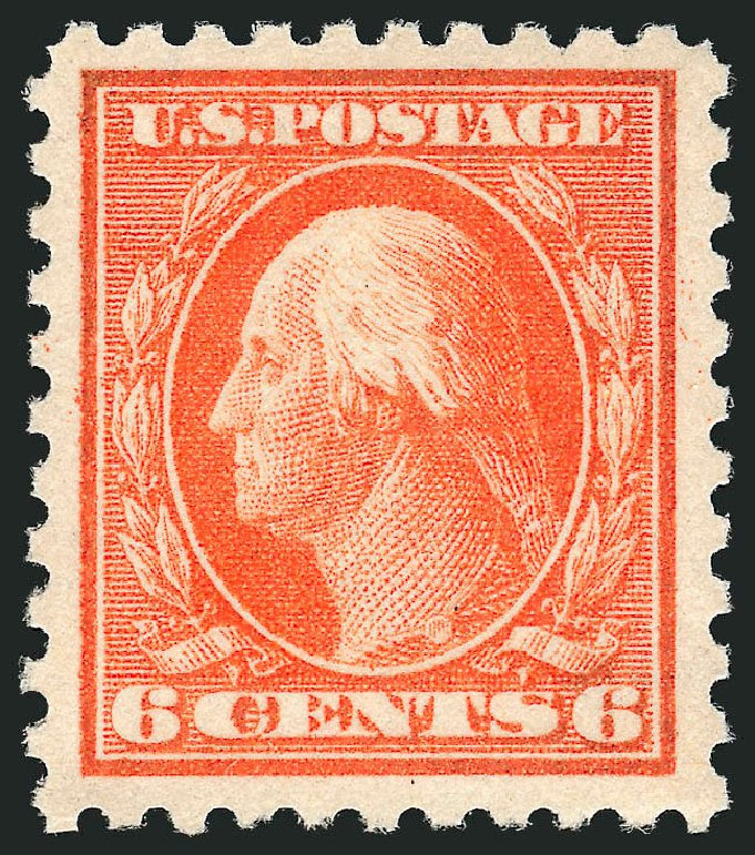 Value of US Stamp Scott Cat. 429: 6c 1914 Washington Perf 10. Robert Siegel Auction Galleries, Feb 2015, Sale 1093, Lot 296