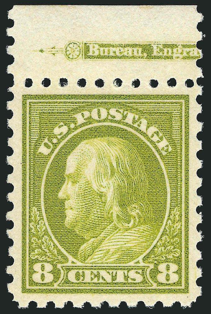 Cost of US Stamp Scott Catalogue 431: 1914 8c Franklin Perf 10. Robert Siegel Auction Galleries, Oct 2011, Sale 1014, Lot 1907