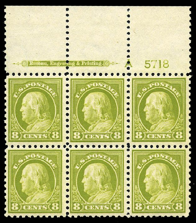 Cost of US Stamps Scott Catalogue # 431 - 1914 8c Franklin Perf 10. Matthew Bennett International, May 2014, Sale 350, Lot 580