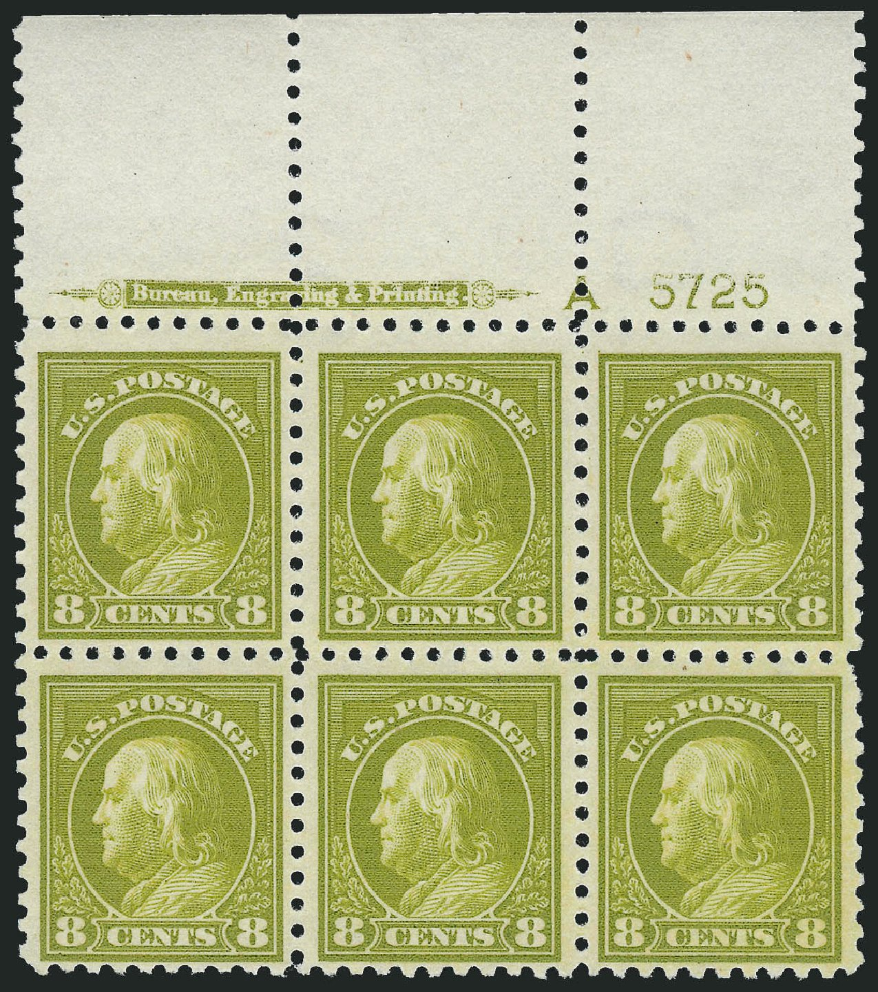 Prices of US Stamp Scott #431: 1914 8c Franklin Perf 10. Robert Siegel Auction Galleries, Feb 2015, Sale 1093, Lot 301