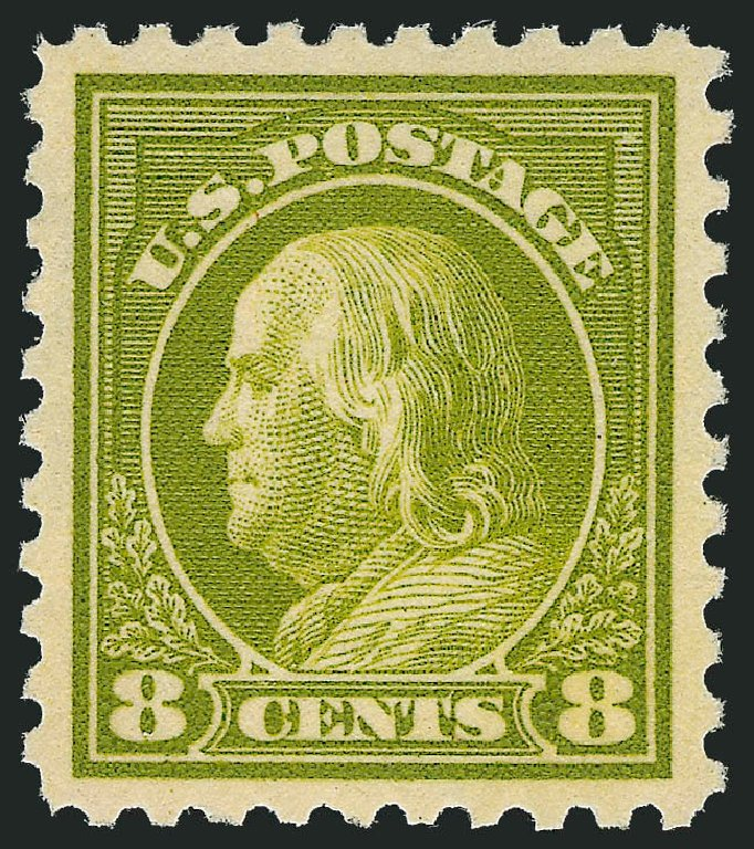 Price of US Stamps Scott #431: 1914 8c Franklin Perf 10. Robert Siegel Auction Galleries, Dec 2013, Sale 1062, Lot 614