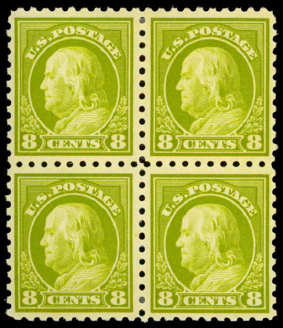 Prices of US Stamp Scott Catalog # 431 - 8c 1914 Franklin Perf 10. Daniel Kelleher Auctions, May 2015, Sale 669, Lot 3012