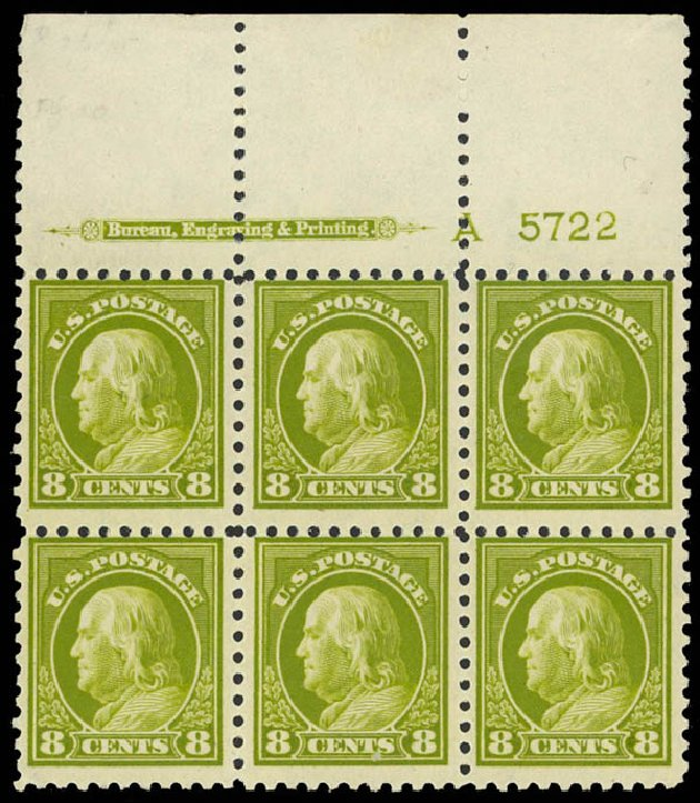 Cost of US Stamps Scott Cat. #431: 8c 1914 Franklin Perf 10. Daniel Kelleher Auctions, Sep 2014, Sale 655, Lot 683