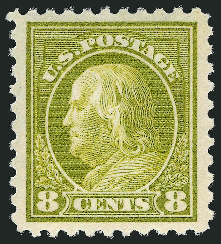 US Stamps Prices Scott Catalogue #431 - 8c 1914 Franklin Perf 10. Robert Siegel Auction Galleries, Mar 2013, Sale 1040, Lot 1806