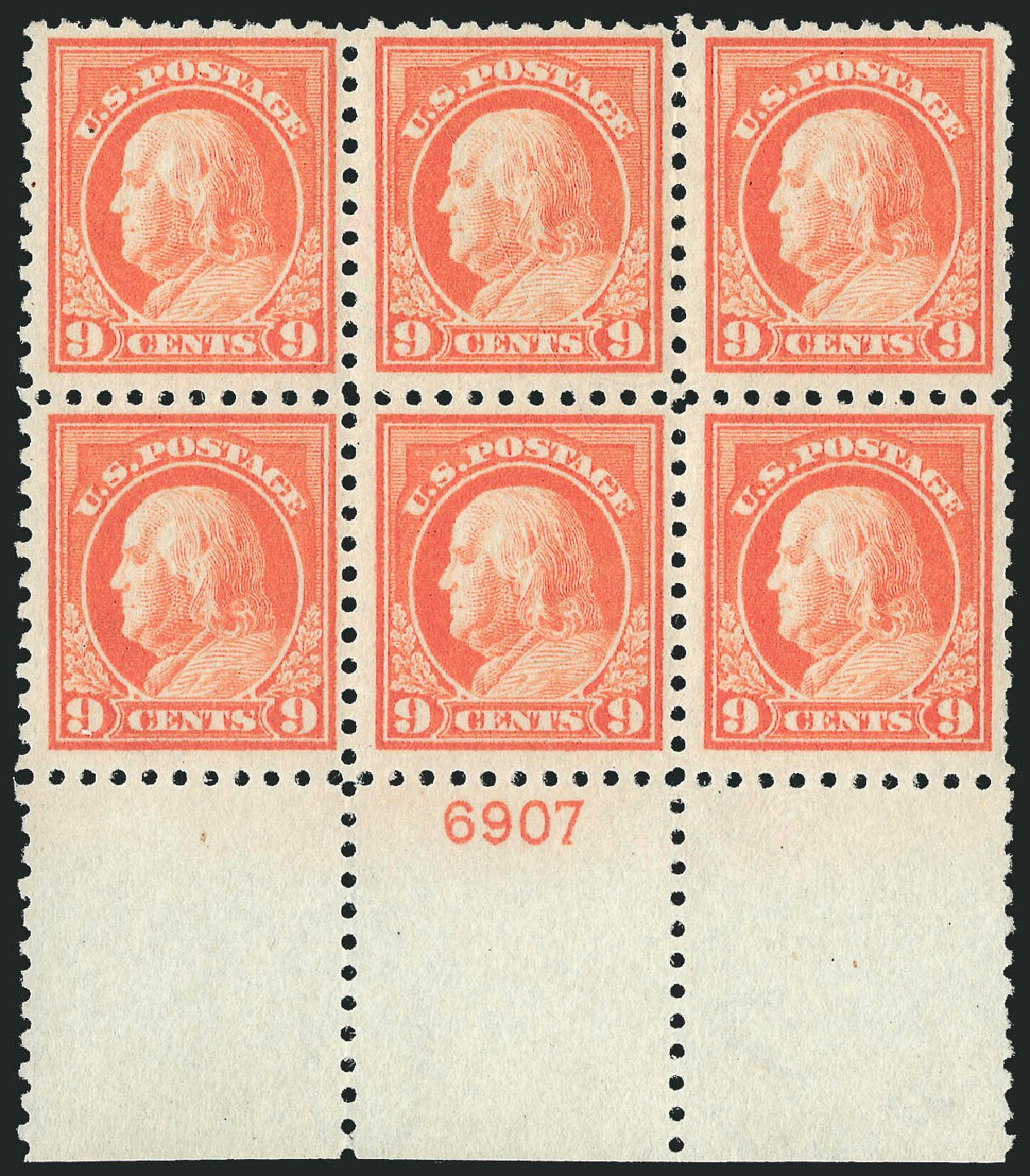 Price of US Stamp Scott Cat. # 432: 1914 9c Franklin Perf 10. Robert Siegel Auction Galleries, Sep 2014, Sale 1078, Lot 527