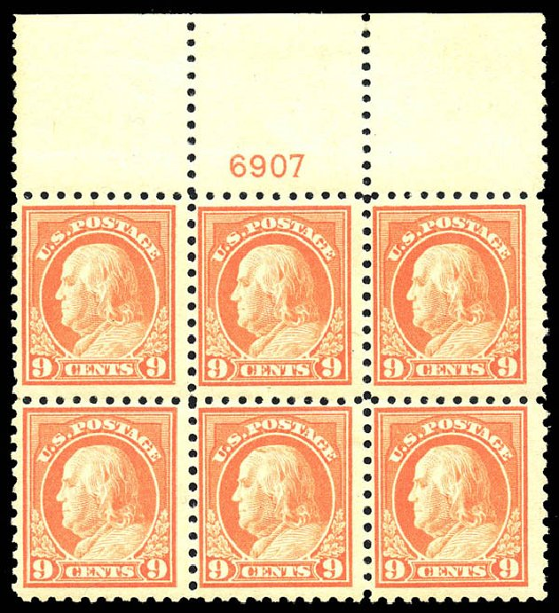 Cost of US Stamps Scott 432: 9c 1914 Franklin Perf 10. Matthew Bennett International, May 2014, Sale 350, Lot 581