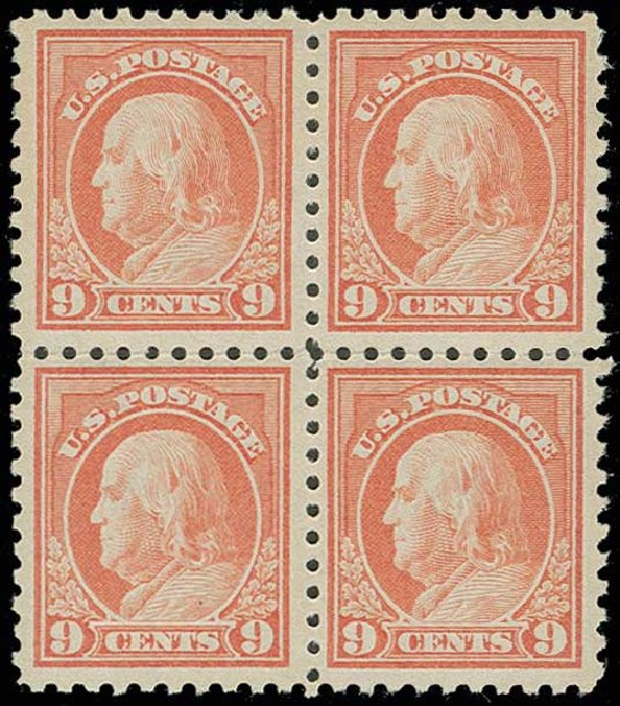 Costs of US Stamps Scott # 432 - 9c 1914 Franklin Perf 10. H.R. Harmer, Jun 2013, Sale 3003, Lot 1305
