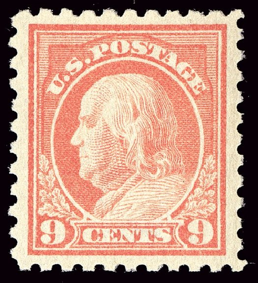 US Stamp Price Scott Cat. # 432: 9c 1914 Franklin Perf 10. Spink Shreves Galleries, Jan 2014, Sale 146, Lot 413