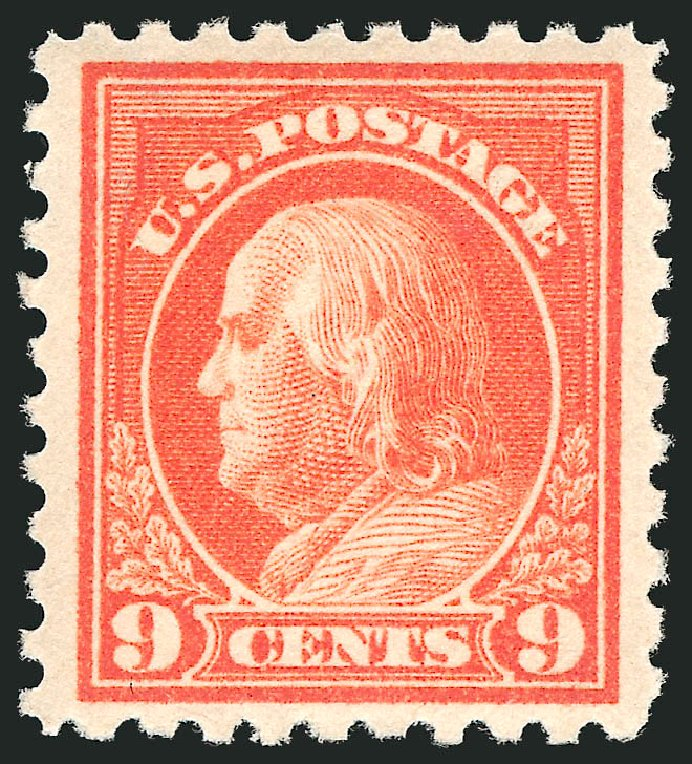 Prices of US Stamps Scott Catalog #432 - 9c 1914 Franklin Perf 10. Robert Siegel Auction Galleries, Apr 2014, Sale 1068, Lot 266