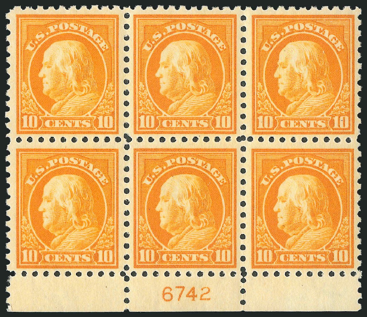 Price of US Stamp Scott Cat. # 433: 1914 10c Franklin Perf 10. Robert Siegel Auction Galleries, Mar 2013, Sale 1040, Lot 1807
