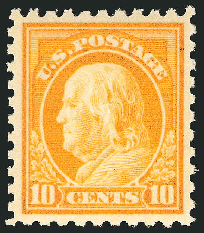 Prices of US Stamps Scott #433: 10c 1914 Franklin Perf 10. Robert Siegel Auction Galleries, Apr 2014, Sale 1068, Lot 267
