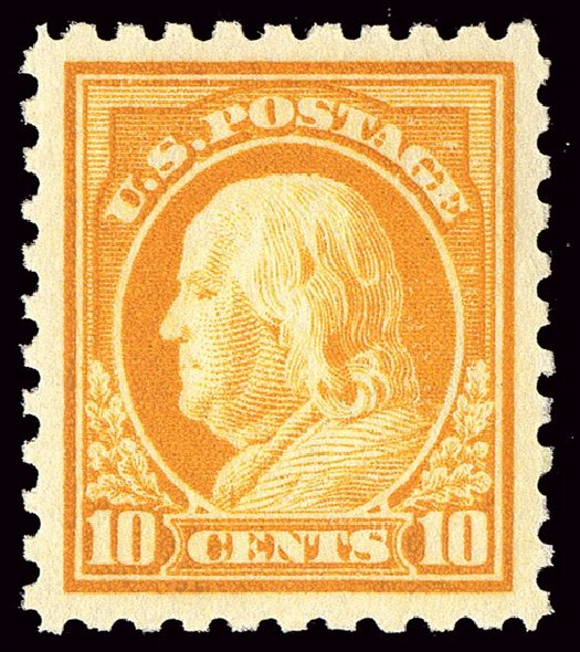 US Stamp Values Scott # 433 - 10c 1914 Franklin Perf 10. Spink Shreves Galleries, Jan 2014, Sale 146, Lot 414