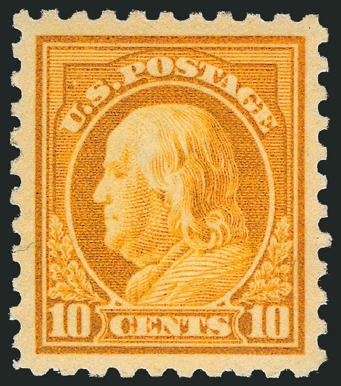 Cost of US Stamps Scott Catalogue #433 - 10c 1914 Franklin Perf 10. Robert Siegel Auction Galleries, Dec 2013, Sale 1062, Lot 615