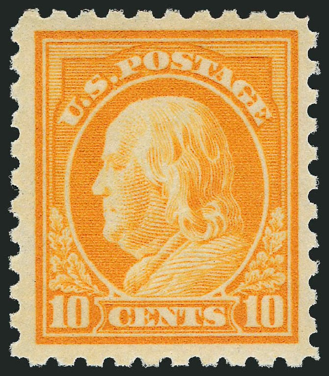 US Stamps Price Scott Catalogue # 433: 10c 1914 Franklin Perf 10. Robert Siegel Auction Galleries, Jul 2013, Sale 1050, Lot 553