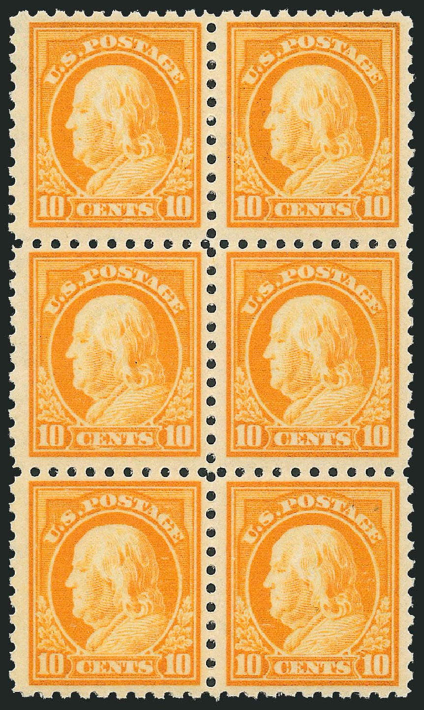 US Stamp Values Scott #433 - 10c 1914 Franklin Perf 10. Robert Siegel Auction Galleries, Mar 2014, Sale 1067, Lot 1523