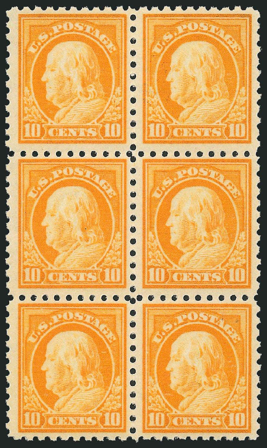US Stamp Values Scott #433 - 10c 1914 Franklin Perf 10. Robert Siegel Auction Galleries, Mar 2014, Sale 1067, Lot 1523
