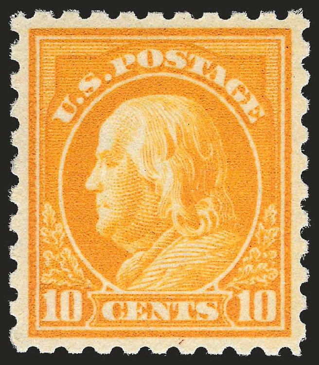 US Stamp Values Scott Cat. # 433: 1914 10c Franklin Perf 10. Robert Siegel Auction Galleries, Apr 2009, Sale 972, Lot 3333