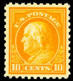 US Stamp Price Scott Catalog #433: 10c 1914 Franklin Perf 10. Daniel Kelleher Auctions, Aug 2015, Sale 672, Lot 2726