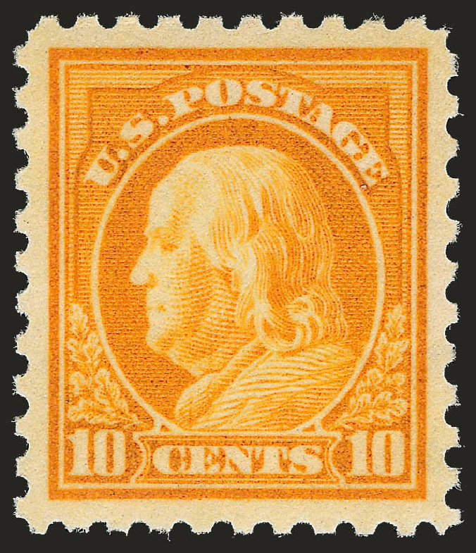 Value of US Stamp Scott Cat. # 433 - 10c 1914 Franklin Perf 10. Robert Siegel Auction Galleries, Jun 2010, Sale 992, Lot 2476