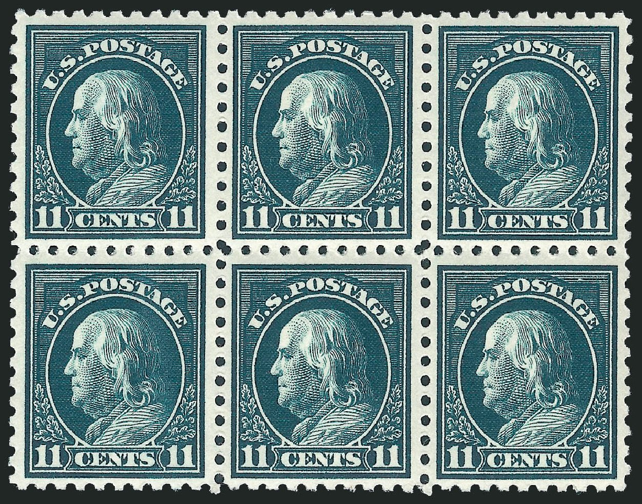 Price of US Stamps Scott Cat. 434: 1915 11c Franklin Perf 10. Robert Siegel Auction Galleries, Mar 2012, Sale 1019, Lot 809