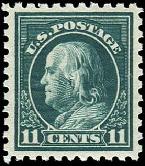US Stamp Values Scott Catalog 434 - 1915 11c Franklin Perf 10. Regency-Superior, Aug 2015, Sale 112, Lot 820