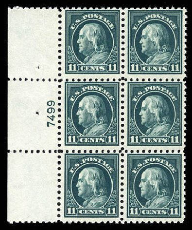 Cost of US Stamp Scott Catalog # 434 - 1915 11c Franklin Perf 10. Matthew Bennett International, Mar 2012, Sale 344, Lot 4591