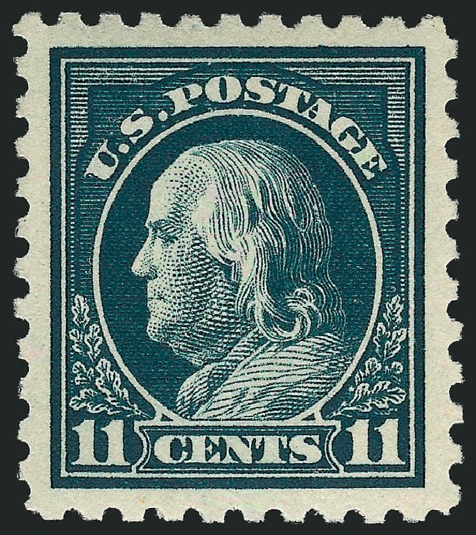 US Stamps Values Scott # 434 - 11c 1915 Franklin Perf 10. Robert Siegel Auction Galleries, Sep 2009, Sale 968B, Lot 551