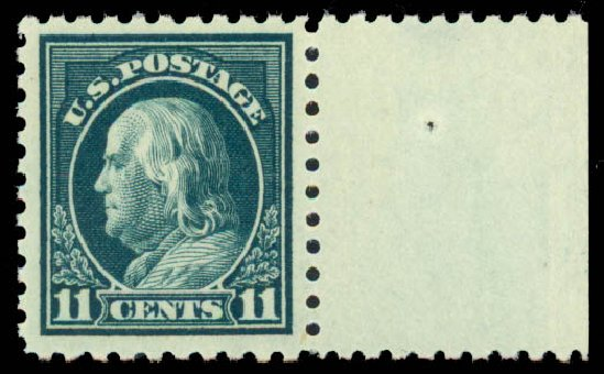 US Stamp Prices Scott Catalog #434: 11c 1915 Franklin Perf 10. Daniel Kelleher Auctions, Sep 2013, Sale 639, Lot 3552
