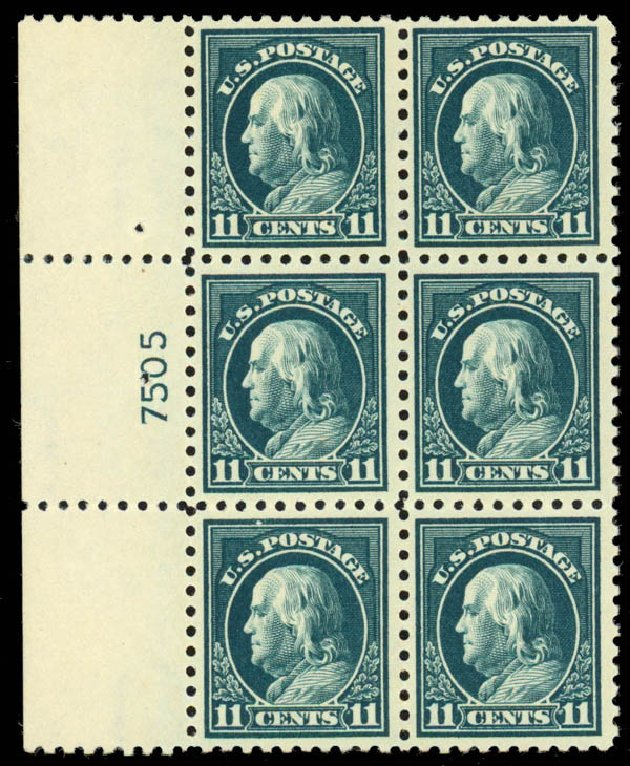 US Stamps Prices Scott Catalog # 434: 11c 1915 Franklin Perf 10. Daniel Kelleher Auctions, Sep 2013, Sale 639, Lot 3553