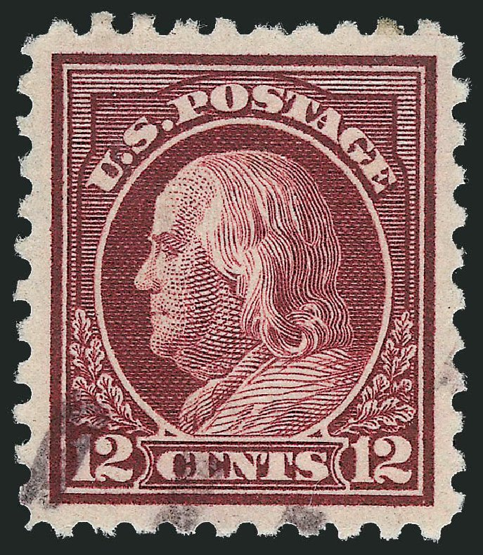Prices of US Stamp Scott #435: 1914 12c Franklin Perf 10. Robert Siegel Auction Galleries, Dec 2014, Sale 1090, Lot 1510