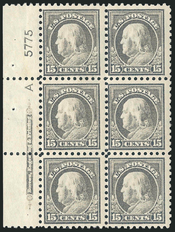 Costs of US Stamps Scott 437 - 15c 1914 Franklin Perf 10. Robert Siegel Auction Galleries, Mar 2014, Sale 1067, Lot 1527