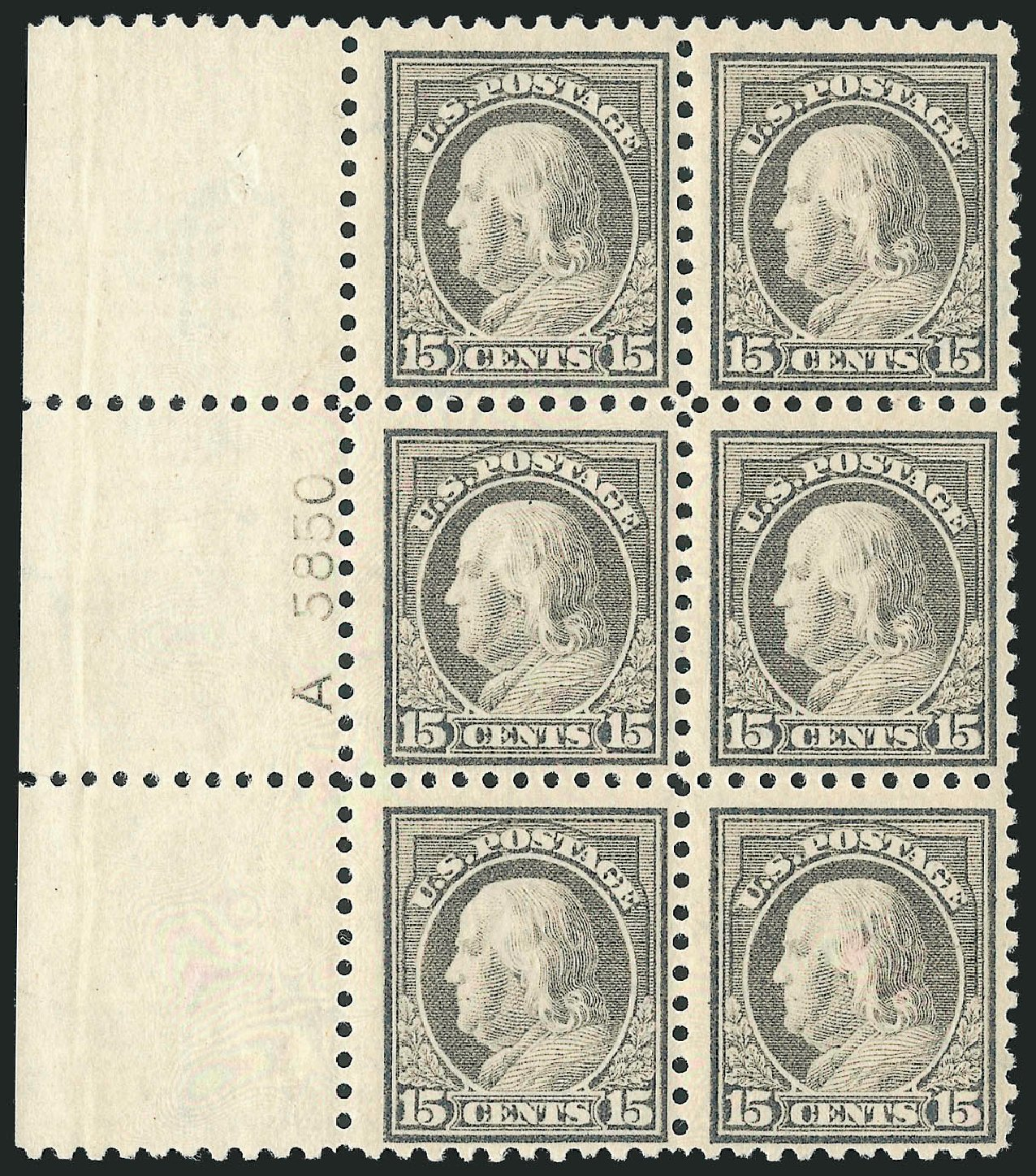 Price of US Stamps Scott # 437: 15c 1914 Franklin Perf 10. Robert Siegel Auction Galleries, Feb 2015, Sale 1093, Lot 307